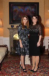 HRH Princess Beatrice of York and HRH Princess Eugenie of York attend the Reception of the British Ambassador during their visit to Berlin, January 17, 2013. Photo by Imago / i-Images...UK ONLY