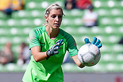 MELBOURNE, VIC - MARCH 06: Erin Nayler (1) of New Zealand prepares for a goal kick during The Cup of Nations womens soccer match between New Zealand and Korea Republic on March 06, 2019 at AAMI Park, VIC. (Photo by Speed Media/Icon Sportswire)