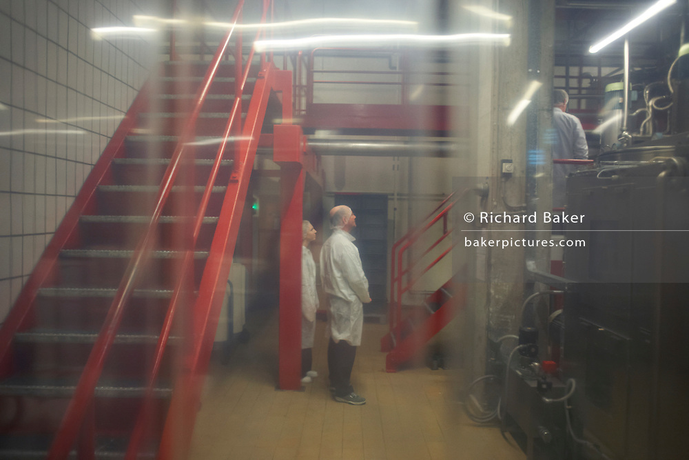 Writer Alain de Botton given a guided tour of the United Biscuits-owned Delacre production factory in Lambermont