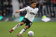Derby County midfielder Duane Holmes on the ball during the EFL Sky Bet Championship match between Derby County and Sheffield Wednesday at the Pride Park, Derby, England on 9 March 2019.