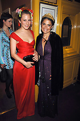 Left to right, CHALOTTE DELLAL and DANIELLA HELAYEL at a dinner hosted by fashion label Issa at Annabel's, Berekely Square, London on 24th April 2007.<br />