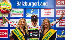 04.07.2012, Alpendorf, AUT, 64. Oesterreich Rundfahrt, 4. Etappe, Lienz - St. Johann/Alpendorf, im Bild fuehrender in der Bergwertung - Jakob Fuglsang (DEN, Radioshack-Nissan) // Radioshack-Nissan driver Jakob Fuglsang of Denmark leading the mountains classification // during the 64rd Tour of Austria, Stage 4, from Lienz to the St. Johann/Alpendorf, Alpendorf, Austria on 2012/07/04. EXPA Pictures © 2012, PhotoCredit: EXPA/ Juergen Feichter