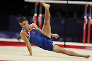 Max Whitlock (Great Britain) the floor competition during the presentation of the teams during the European Championships Glasgow 2018, Team Men Final at The SSE Hydro in Glasgow, Great Britain, Day 10, on August 11, 2018 - Photo Laurent Lairys / ProSportsImages / DPPI