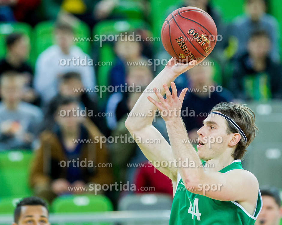 Luka Voncina of KD Ilirija during basketball match between KK Petrol Olimpija and KK Ilirija in 1st Round of Nova KBM Basketball League 2017/18, on December 29, 2017 in Arena Stozice, Ljubljana, Slovenia. Photo by Ziga Zupan / Sportida