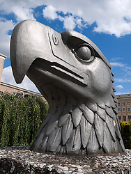 Statue of Eagle at historic and now closed Tempelhof Airport in Berlin Germany