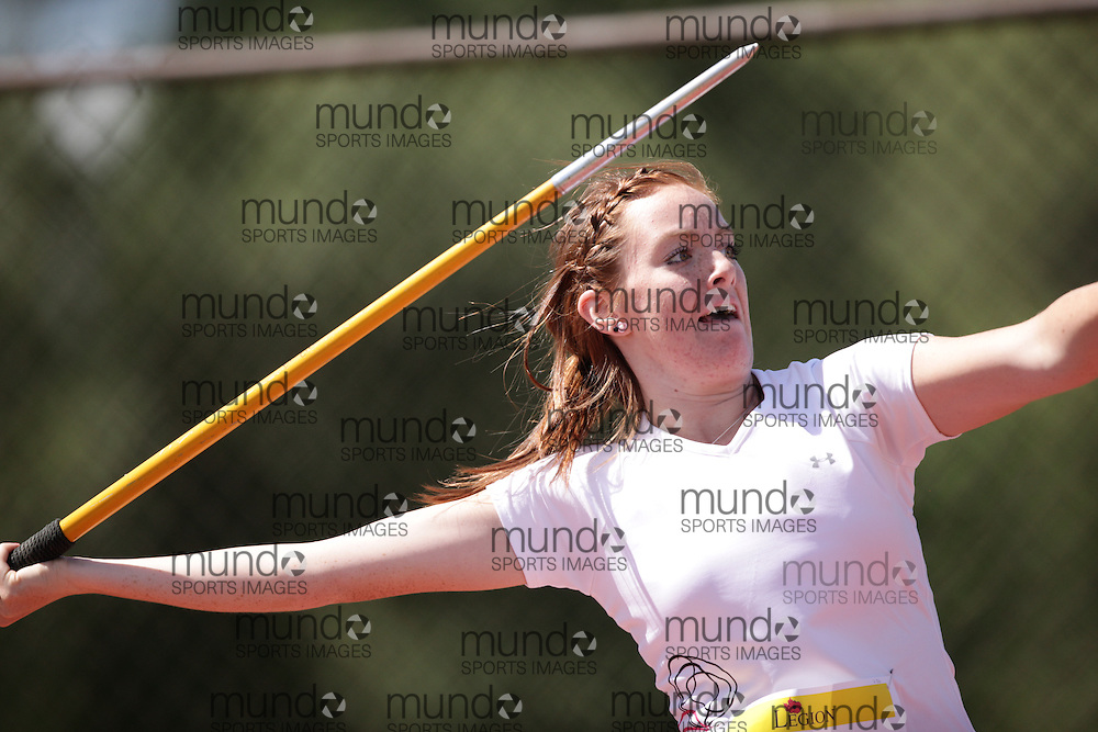 Ottawa, Ontario ---10-08-07---  competes in the javelin at the 2010 Royal Canadian Legion Youth Track and Field Championships in Ottawa, Ontario August 7, 2010..GEOFF ROBINS/Mundo Sport Images.
