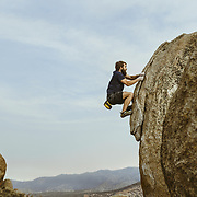 """At this point, I was in a state of no forethought, the only thing is moving forward."" - Jacob Forrer.  The Birthday Boulder. Bishop, CA 