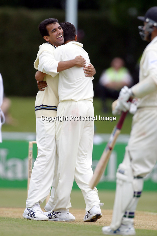 22nd December, 2002. Westpac Park, Hamilton, New Zealand. 2nd Test Match, Day 4. New Zealand v India. <br />Zaheer Khan.<br />New Zealand beat India by 4 wickets to win the series, 2-0.<br />Pic: Chris Skelton/Photosport