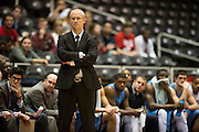 GARLAND, TX - NOVEMBER 11: Rhode Island Rams head coach Dan Hurley looks on against the SMU Mustangs on November 11, 2013 at the Curtis Culwell Center in Garland, Texas.  (Photo by Cooper Neill/Getty Images) *** Local Caption *** Dan Hurley