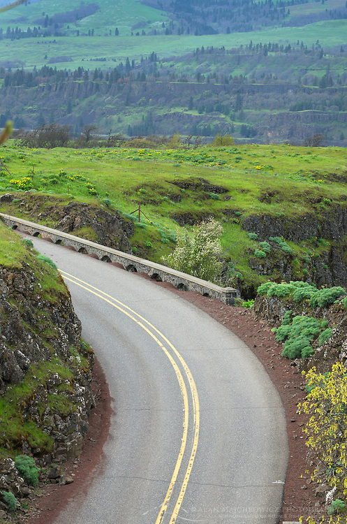 Historic Columbia River Highway at Rowena Crest, Columbia River Gorge National Scenic Area, Oregon