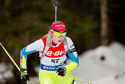 Anja Erzen of Slovenia competes during Women 7.5 km Sprint at day 1 of IBU Biathlon World Cup 2014/2015 Pokljuka, on December 18, 2014 in Rudno polje, Pokljuka, Slovenia. Photo by Vid Ponikvar / Sportida