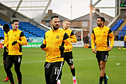 Southend United midfielder Stephen McLaughlin (11) leads the warm up before the EFL Sky Bet League 1 match between Peterborough United and Southend United at London Road, Peterborough, England on 3 February 2018. Picture by Nigel Cole.