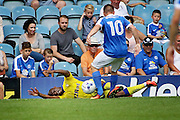 Peterborough no 10 Paul Taylor fouls in the  Friendly match between Peterborough United and Leeds United at London Road, Peterborough, England on 23 July 2016. Photo by Nigel Cole.