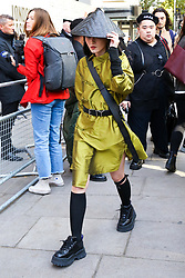© Licensed to London News Pictures. 13/09/2019. London, UK. Fashion enthusiast arrives on day 1 of the London Fashion Week - spring/summer collection fashion shows at 180 Strand. Photo credit: Dinendra Haria/LNP