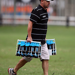 DURBAN, SOUTH AFRICA - JANUARY 28: John Hooper (Masseur) of the Cell C Sharks during the Cell C Sharks training session at Growthpoint Kings Park on January 28, 2016 in Durban, South Africa. (Photo by Steve Haag/Gallo Images)