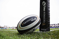 A general view of Rodney Parade, home of Dragons match ball<br /> <br /> Photographer Simon King/Replay Images<br /> <br /> Guinness Pro14 Round 11 - Dragons v Cardiff Blues - Tuesday 26th December 2017 - Rodney Parade - Newport<br /> <br /> World Copyright &copy; 2017 Replay Images. All rights reserved. info@replayimages.co.uk - www.replayimages.co.uk