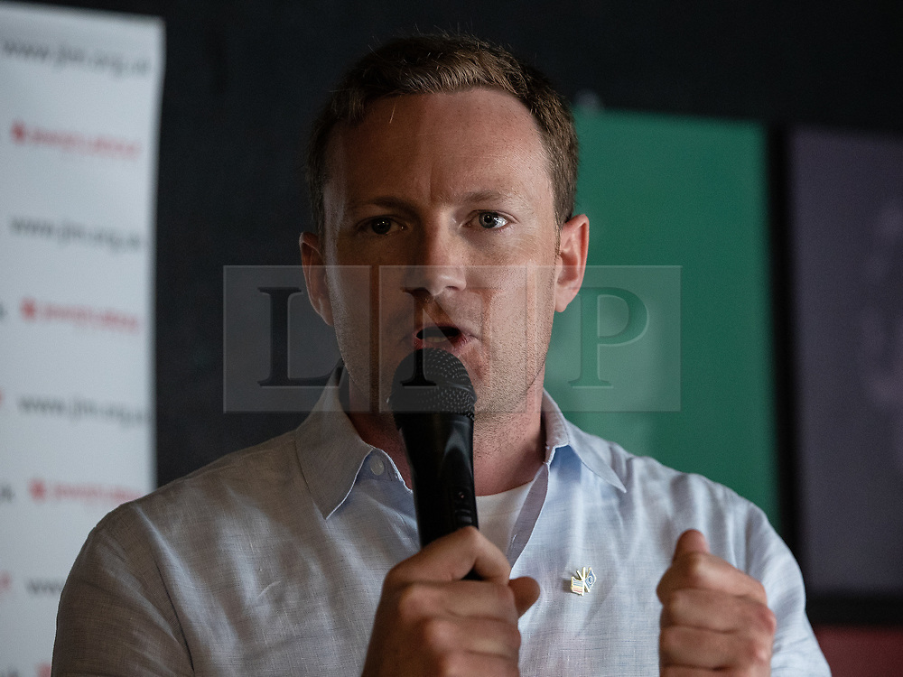 © Licensed to London News Pictures . 23/09/2018. Liverpool, UK. SEB DANCE MEP at a rally by The Jewish Labour Movement at The Liverpool Pub in central Liverpool during the first day of the 2018 Labour Party Conference . Photo credit: Joel Goodman/LNP