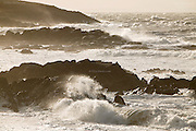 January 2004, Big seas lashed the west coast of Anglesey, and strong waves pushed their way into the small cove at Porth Nobla, under the ancient burial mound of Barclodiad y Gawres.