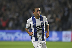 November 1, 2017 - Porto, Porto, Portugal - Porto's Uruguayan defender Maxi Pereira celebrates after scoring goal during the UEFA Champions League Group G match between FC Porto and Leipzig at Dragao Stadium on November 1, 2017 in Porto, Portugal. (Credit Image: © Dpi/NurPhoto via ZUMA Press)