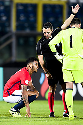 October 5, 2017 - San Marino, SAN MARINO - 171005 Joshua King of Norway and referee Andrew Dallas of Scotland during the FIFA World Cup Qualifier match between San Marino and Norway on October 5, 2017 in San Marino. .Photo: Fredrik Varfjell / BILDBYRN / kod FV / 150027 (Credit Image: © Fredrik Varfjell/Bildbyran via ZUMA Wire)