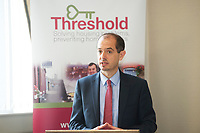 Repro Free: Regional Manager Diarmuid O'Sullivan  Threshold at the launch of Threshold: The Galway Tenancy Protection Service annual report  by Minister Sean Kyne in Galway.  Photo:Andrew Downes, xposure .