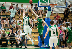 Ziga Dimec of Krka vs Bojan Radulovic of Petrol Olimpija during basketball match between KK Krka Novo mesto and  KK Petrol Olimpija in 4th Final game of Liga Nova KBM za prvaka 2017/18, on May 27, 2018 in Sports hall Leona Stuklja, Novo mesto, Slovenia. Photo by Vid Ponikvar / Sportida