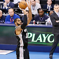 06 May 2016: San Antonio Spurs forward LaMarcus Aldridge (12) takes a jump shot during the San Antonio Spurs 100-96 victory over the Oklahoma City Thunder, during Game Three of the Western Conference Semifinals of the NBA Playoffs at the Chesapeake Energy Arena, Oklahoma City, Oklahoma, USA.