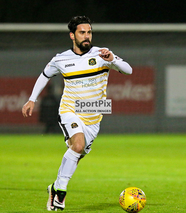 Dimitrios Froxylias in action  during the Dumbarton v Stranraer Irn Bru Cup round three 06 October 2017<br /> <br /> <br /> <br /> <br /> <br /> (c) Andy Scott | SportPix.org.uk