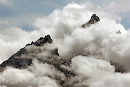 NEWS&GUIDE PHOTO / PRICE CHAMBERS.Cathedral group gets socked in. Grand Teton National Park.