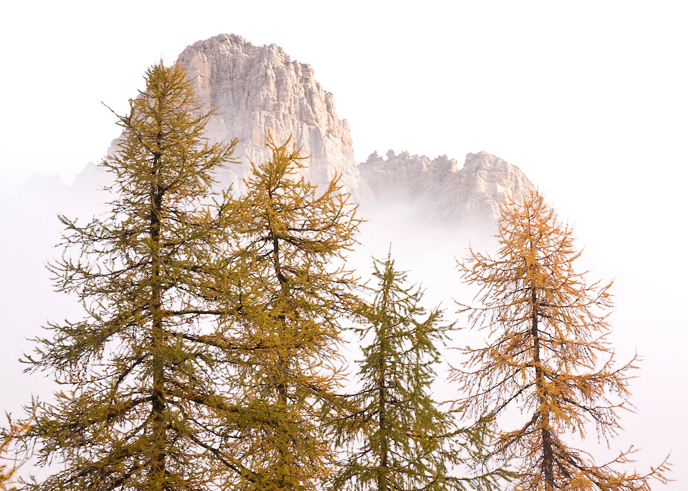 Signs of autumn at Berghaus Frara in Alta Badia in the Italian Dolomites.