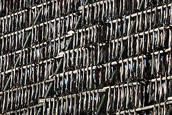 NORWAY LOFOTEN 27MAR07 - Stockfish (stokfisk) racks with cod hung out to dry outside Henningsvaer on the Lofoten islands...jre/Photo by Jiri Rezac..© Jiri Rezac 2007..Contact: +44 (0) 7050 110 417.Mobile:  +44 (0) 7801 337 683.Office:  +44 (0) 20 8968 9635..Email:   jiri@jirirezac.com.Web:    www.jirirezac.com..© All images Jiri Rezac 2007 - All rights reserved.