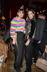 Left to right, EMILY WELLER and LILY FORTESCUE at a party to celebrate the launch of fashion retailer WeKoko.com held at Sketch, 9 Conduit Street, London on 13th April 2016.