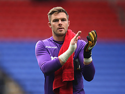 Jack Butland of Stoke City applauds the fans at the final whistle - Mandatory by-line: Jack Phillips/JMP - 29/07/2017 - FOOTBALL - Macron Stadium - Bolton, England - Bolton Wanderers v Stoke City - Pre-Season Club Friendly