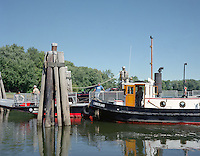 Rocky Hill/Glastonberry Ferry on the Connecticut River is the oldest continuously operated ferry in the US at Rocky Hill, CT