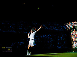 LONDON, ENGLAND - Tuesday, June 23, 2009: Andy Murray (GBR) during his Gentlemen's Singles 1st Round match on day two of the Wimbledon Lawn Tennis Championships at the All England Lawn Tennis and Croquet Club. (Pic by David Rawcliffe/Propaganda)