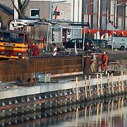 Werkzaamheden haven van Huizen aan de kademuur en riolering