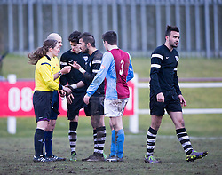At the end.<br /> Whitehill Welfare 2 v 1 Edusport Academy, South Challenge Cup Quarter Final played 7/3/2015 at Ferguson Park, Carnethie Street, Rosewell.