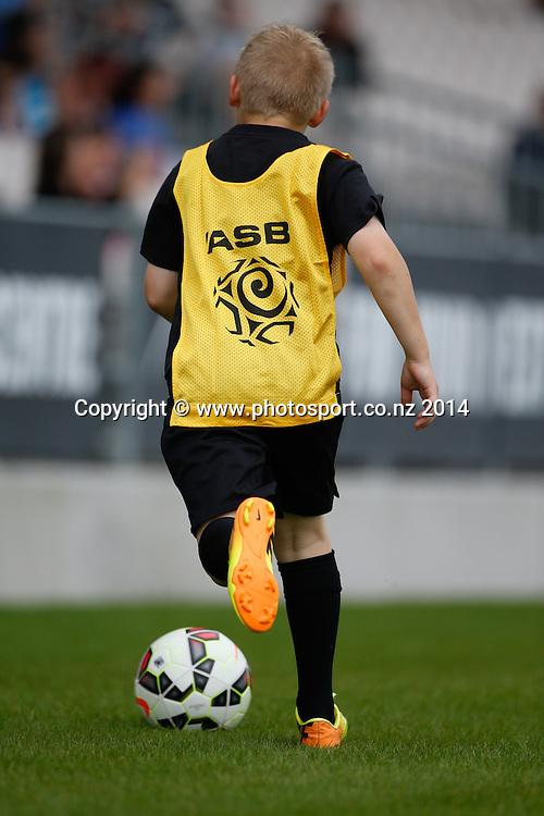 Ball boy.  WaiBoP United v Hawkes Bay United, Rotorua International Stadium, Rotorua, New Zealand. Saturday, 20 December, 2014. Photo: John Cowpland / photosport.co.nz