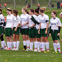Midstate U18 Girls determining the winner at  Illinois FC Fall Cup, Champaign, Illinois, October 14, 2012. Photo: George Strohl