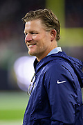 HOUSTON, TX - AUGUST 29:  GM Les Snead of the Los Angeles Rams on the sidelines during a game against the Houston Texans during week four of the preseason at NRG Stadium on August 29, 2019 in Houston, Texas. The Rams defeated the Texans 22-10.   (Photo by Wesley Hitt/Getty Images) *** Local Caption *** Les Snead