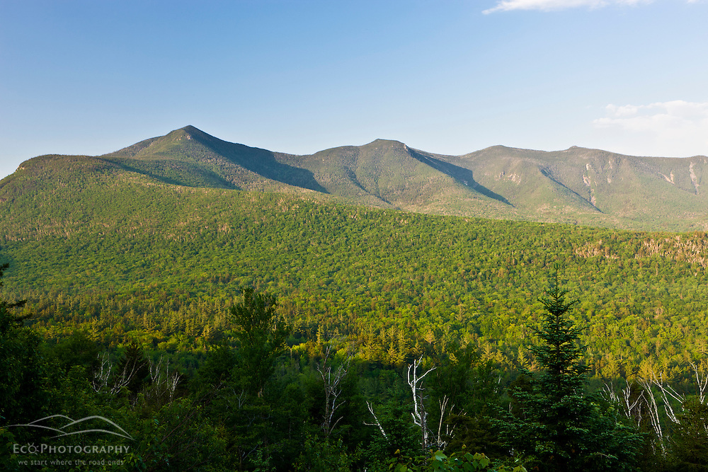 Mount Osceola and scar ridge as seen from the Kancamagus Highway in New Hampshire's White Mountains.