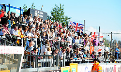 Dover Athletic fans turned up in good numbers - Photo mandatory by-line: Neil Brookman - Mobile: 07966 386802 - 04/10/2014 - SPORT - Football - Bristol - Memorial Stadium - Bristol Rovers v Dover - Vanarama Football Conference