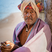 Portrain of man in village of Chandelao, Rajasthan