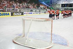 Team of Hungary at IIHF Ice-hockey World Championships Division I Group B match between National teams of Hungary and Croatia, on April 20, 2010, in Tivoli hall, Ljubljana, Slovenia.  (Photo by Vid Ponikvar / Sportida)