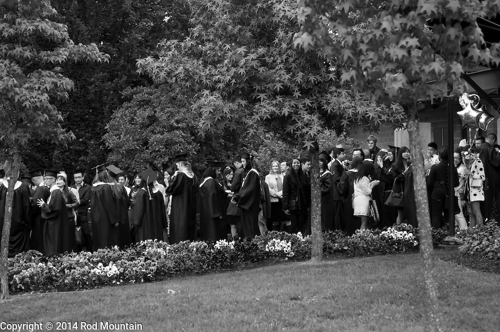 The scene as captured during a high school graduation ceremony at the Bill Copeland Sports Centre. Burnaby, BC