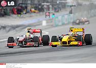 Grand prix de Malaisie 2010..Circuit de SEPANG. 4 Avril 2010...Photo Stéphane Mantey/L'Equipe. *** Local Caption *** hamilton (lewis) - (gbr) -..petrov (vitaly) - (rus) -