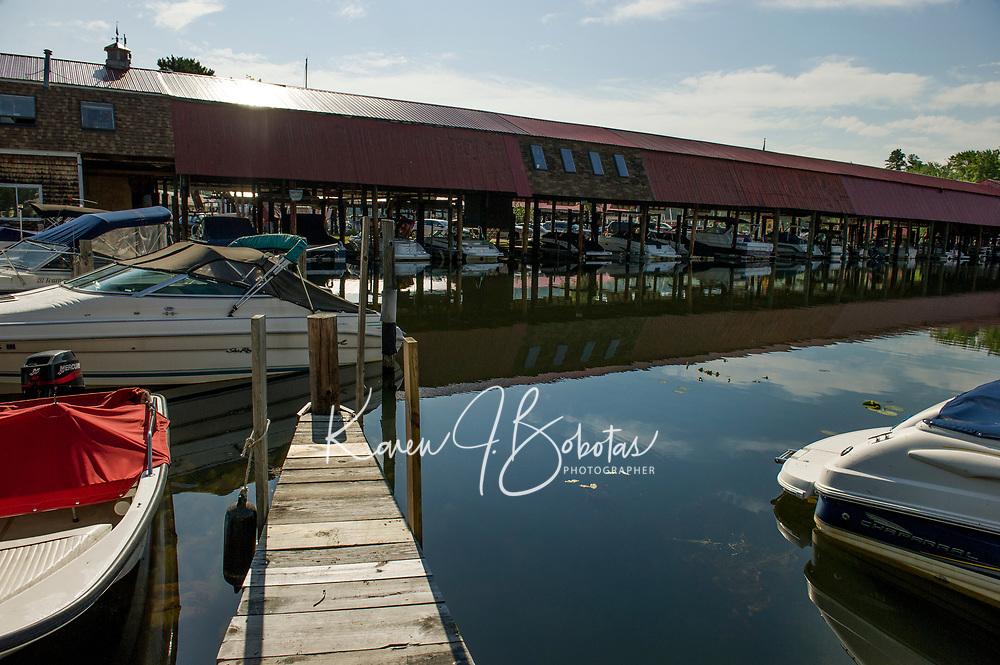 Fay's Boat Yard on Lake Winnipesaukee in Gilford NH.   © Karen Bobotas Photographer