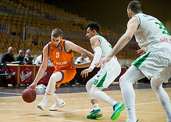 Miroslav Pasajlic of Helios Suns during basketball match between KK Petrol Olimpija and KK Helios Suns in Round #9 of Liga Nova KBM 2018/19, on December 14, 2018 in Arena Tivoli, Ljubljana, Slovenia. Photo by Vid Ponikvar / Sportida