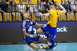 Jaka Malus of RK Celje Pivovarna Lasko during handball match between RK Celje Pivovarna Lasko and PGE Vive Kielce in Group Phase A+B of VELUX EHF Champions League, on September 30, 2017 in Arena Zlatorog, Celje, Slovenia. Photo by Urban Urbanc / Sportida