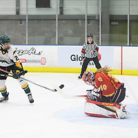2nd year forward Merissa Zerr (24) of the Regina Cougars in action during the Women's Hockey home game on November 18 at Co-operators arena. Credit: Arthur Ward/Arthur Images